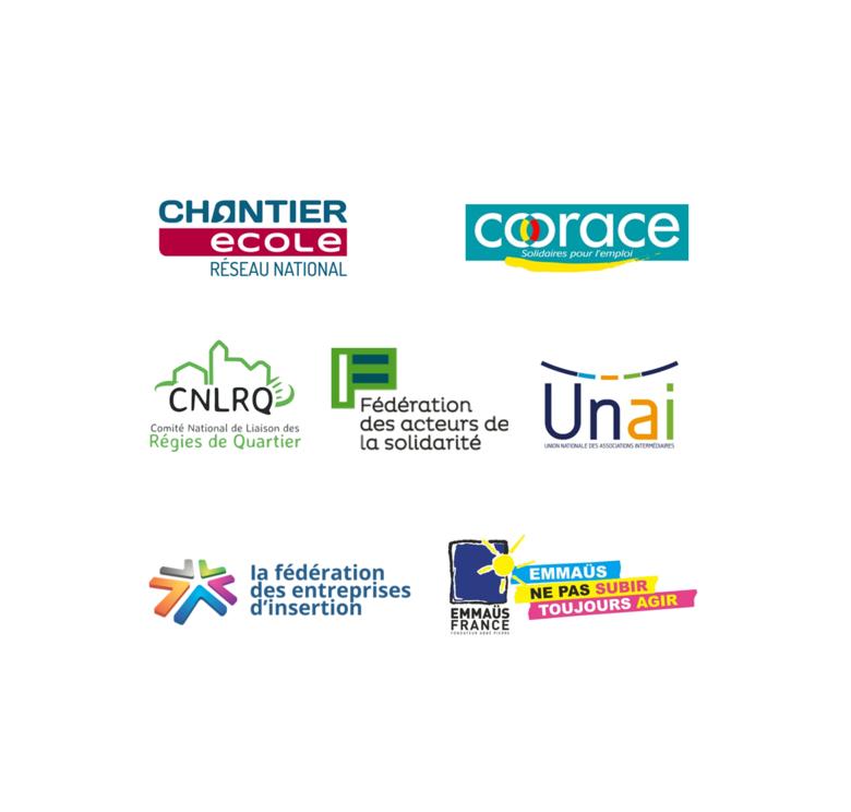 Logos des sept réseaux